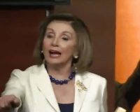 Nancy Pelosi snaps at a reporter who asks a question