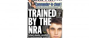 "FAKE NEWS ALERT! The mainstream media is pushing the false narrative that Florida school shooter was ""trained"" by the NRA. Barefaced LIE!"